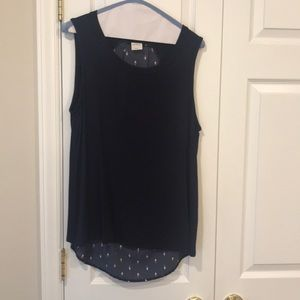 Women's Kaileigh Top Navy Printed Back Sz L